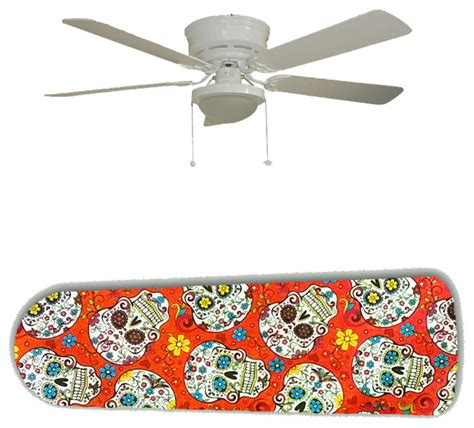 Skull Ceiling Fan by Day Of The Dead Skulls 52 Quot Ceiling Fan And L