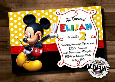 birthday mickey mouse birthday invitations template free