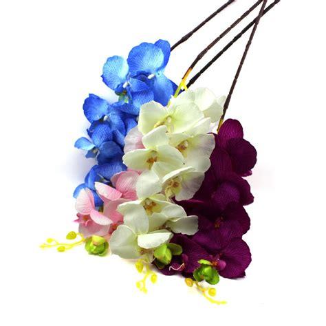 2016 New 21pcs Artificial Decorative Flowers 2016 New 8pcs Artificial Flower Butterfly Orchid Silk Flower Home Wedding Decor