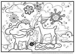winter coloring pages free coloring pages of winter theme
