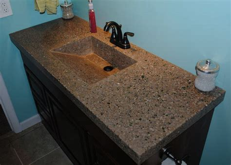 Concrete Countertop And Sink by Concrete Countertop With Integrated Sink And Fiber Optics