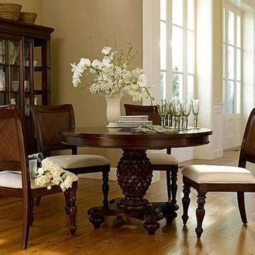 950 Chris Madden J C Penneys Pedestal Dining Table And 4 Chris Madden Dining Room Furniture