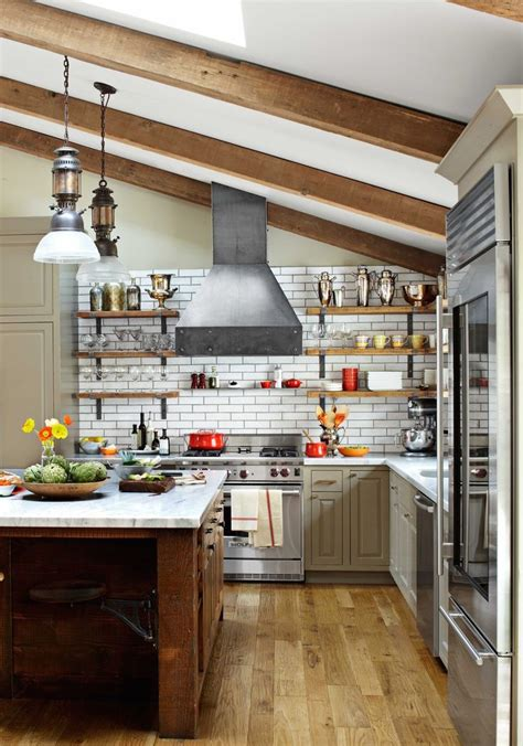 industrial kitchens design 33 stunning kitchens design with exposed wood beams
