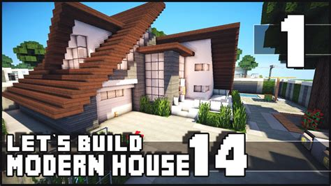 keralis modern house minecraft lets build modern house 14 part 1 youtube