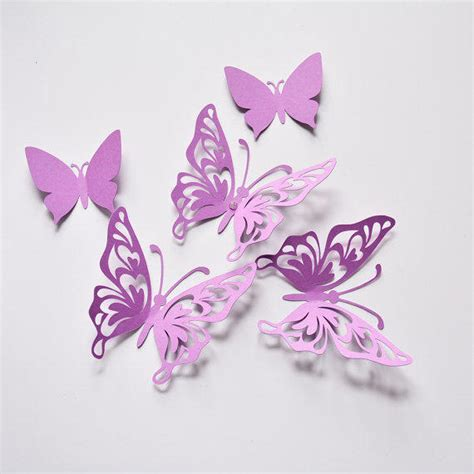 butterfly decorations purple butterfly wall decor birthday from artpaperwonders on