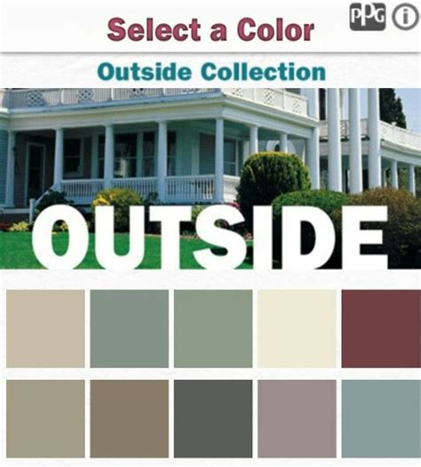 color combinations from ppg paint application outside outdoor exterior color combos