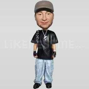 43627 Denim Style custom bobblehead rapper bling buy custom