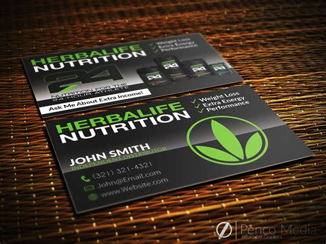 Business Card Templates Herbalife by Herbalife Business Card Design Herbalife Nutrition By