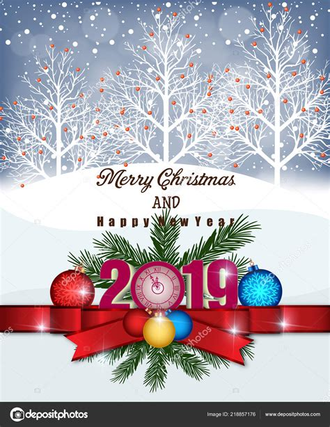 merry christmas happy  year  stock vector  tieulong
