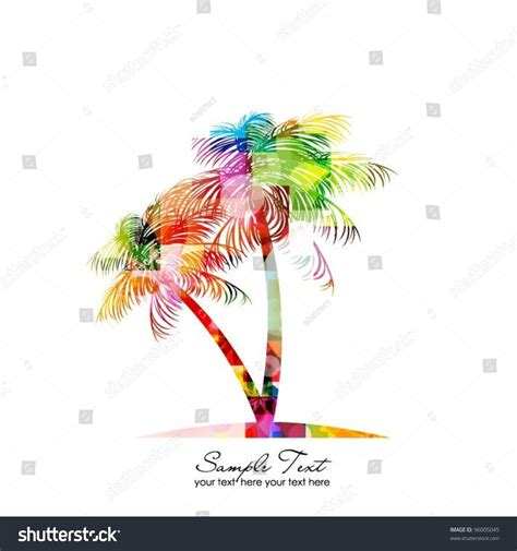 colorful palm trees abstract colorful vector palm tree 96005045