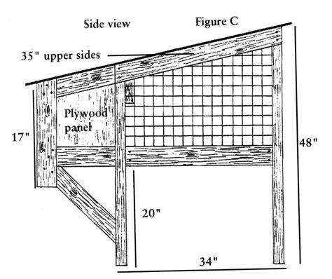 build   rabbit hutch diagrams  farm