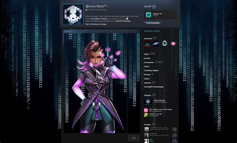 design games steam overwatch sombra steam profile design animated by