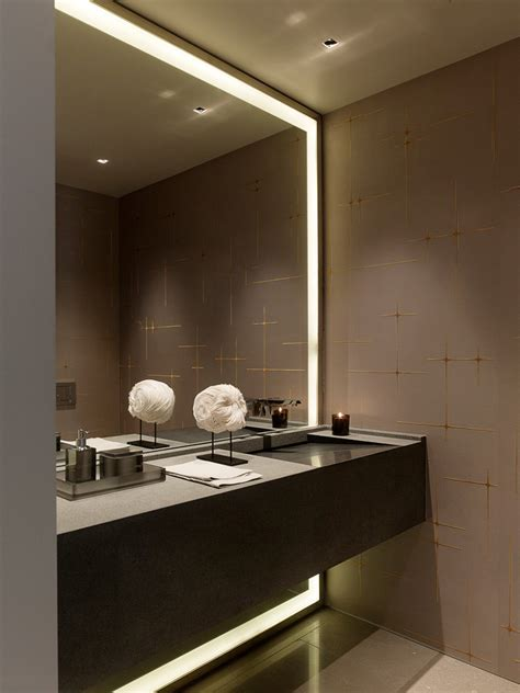 how to a modern bathroom mirror with lights - Contemporary Bathroom Mirrors