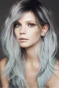 salt and pepper hair with lilac tips 15 surprisingly gorgeous ways to rock colorful roots