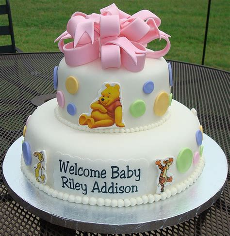 winnie the pooh cake baby shower winnie the pooh baby shower cake flickr photo
