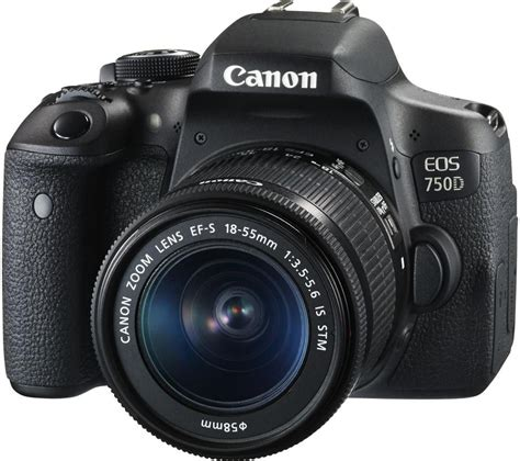 Canon Eos 750d Only Tanpa Lensa buy canon eos 750d dslr with ef s 18 55 mm f 3 5 5 6 is stm lens free delivery currys
