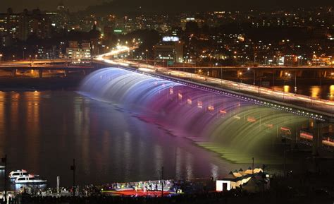 banpo bridge seoul south korea amazing places