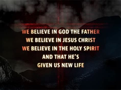 We Believe In we believe worship song track with lyrics