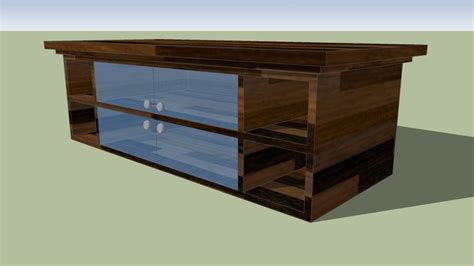 Sketchup components 3d warehouse Table : Dark wood Table