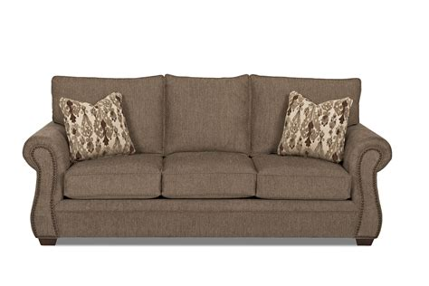 klaussner jasper traditional air coil mattress sleeper sofa with nailhead trim value city