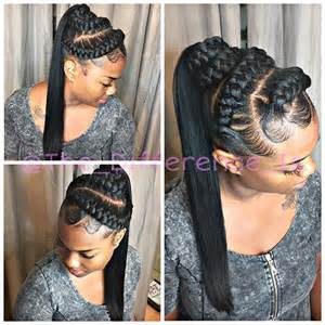 human hair ponytail with goddess braid ponytail updo braids braid on instagram