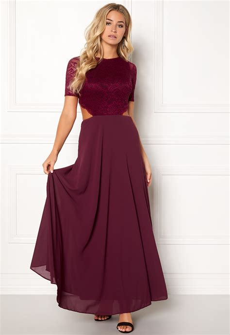 Open Back Maxi Dress zack open back lace maxi dress wine bubbleroom