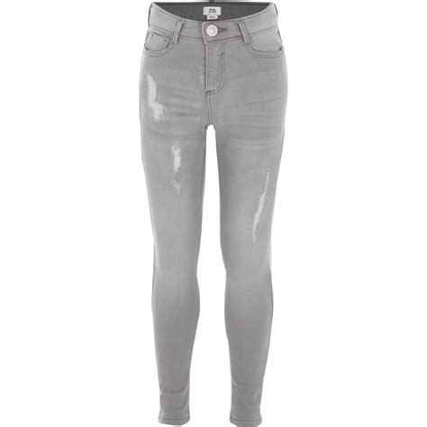 girls skinny jeans girls light grey ripped amelie skinny jeans skinny jeans