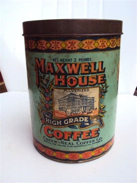 Maxwell House Coffee History by Vintage Coffee Tin Container Maxwell House