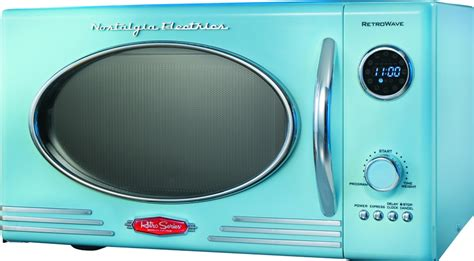 Weekend Models And A Dvd In A Microwave by Microwave Nostalgia Electrics Rmo400blue Reviews Prices