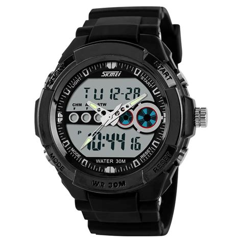 Jam Tangan Pria Skmei Casio Sport Quartz Watc Anti Air skmei casio sport led water resistant 30m ad0942 black jakartanotebook