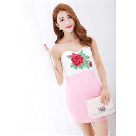 Mini Dress By Shopping Dulu mini dress model kemben d2194 moro fashion
