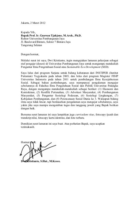 cover letter contohnya 10 surat lamaran kerja doc ben