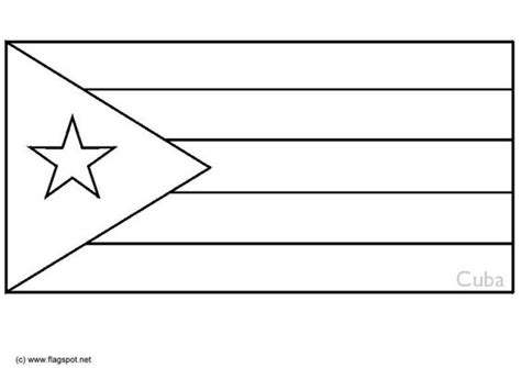 Flags Coloring Pages And Coloring On Pinterest Cuban Flag Coloring Page