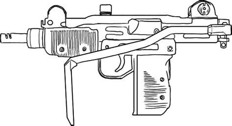 Coloring Page Gun by Machine Guns Free Coloring Pages