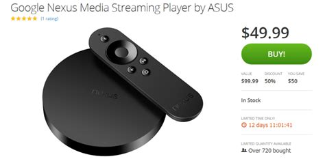 player under50 deal alert get a nexus player for 50 on groupon