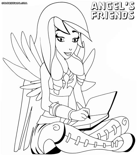 angel cat coloring page angel cat pages coloring pages