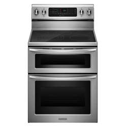 kitchenaid kers505xss 6 6 cu ft oven electric