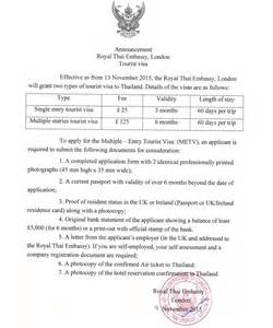 thailand s multiple entry tourist visa requirements