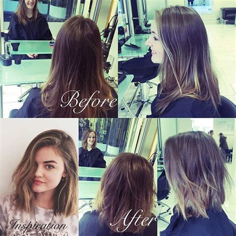 alina ermilova inspiration lob haircut top 100 lucy hale short hair photos before and after