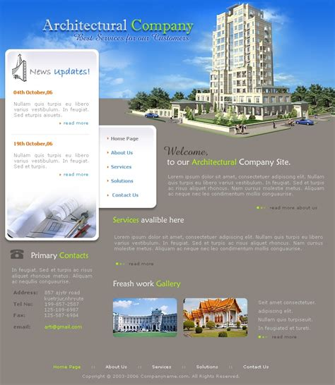templates for architecture website free architecture website template