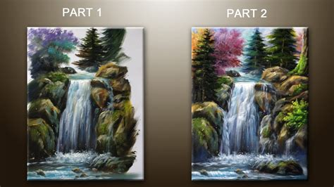 how to preserve acrylic paint on canvas how to paint waterfall with acrylics lesson 2 part 1