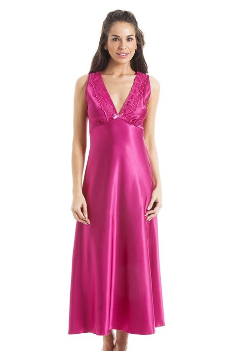 luxury pink lace satin chemise