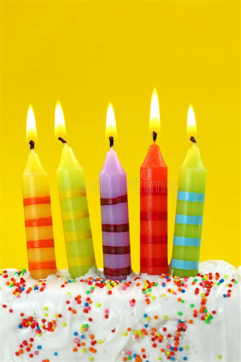 birthday candles stock photo image  confetti