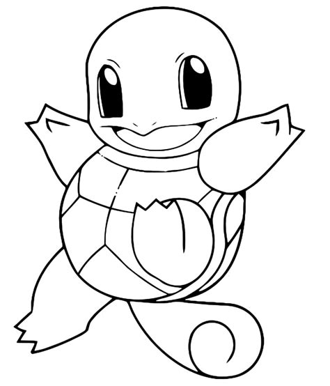 pokemon coloring pages caterpie pok 233 mon gen 1 squirtle felice 7 acqua