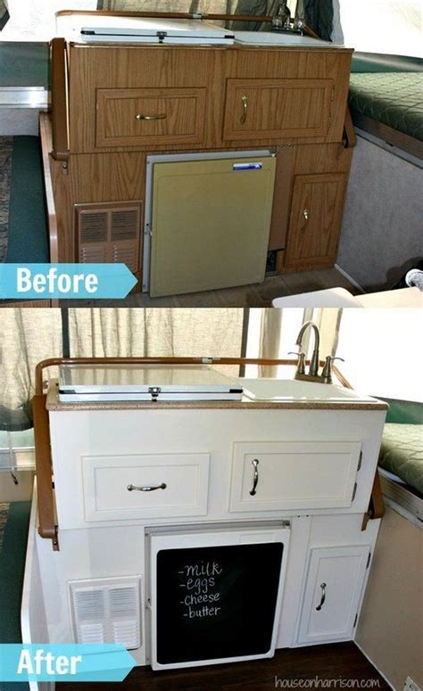 the duffle family diy kitchen makeover 40 best before after rv renovations images on pinterest