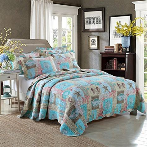 beach comforter set queen newrara seashell beach bedding queen beach theme quilt set