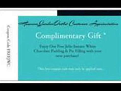 Complimentary Gift Card - subscribe receive a free complimentary gift card youtube