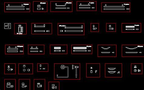 cabinet hardware cad blocks hardware and locks dwg detail for autocad designs cad