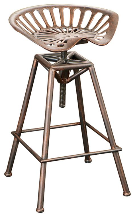 Tractor Seat Bar Stool Industrial Metal Design Tractor Seat Barstool Industrial Bar Stools And Counter