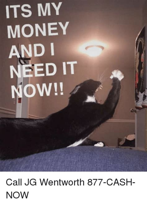 Jg Wentworth Meme - its my money and i need it now call jg wentworth 877